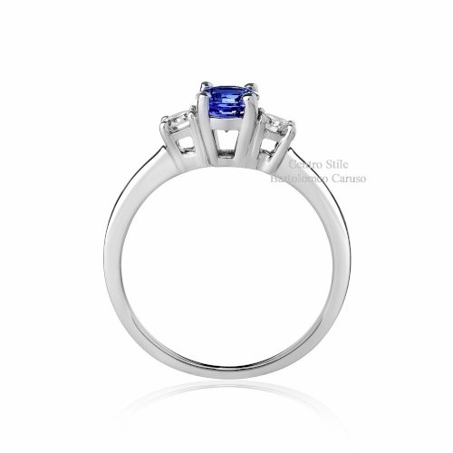 Anello Tanzanite e Diamanti